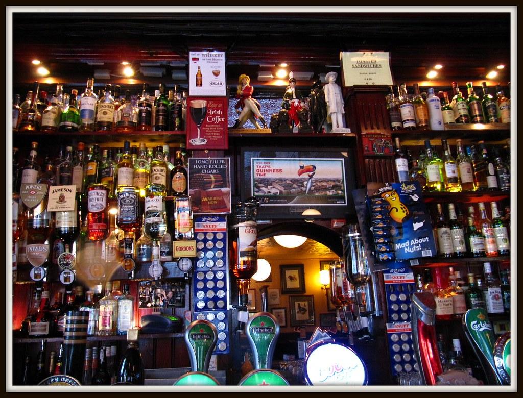 Bar area of The Temple Bar-Dublin