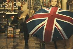 ⑴ Rainy Day.. (- M7D . S h R a T y) Tags: uk blue red white rain umbrella model day rainy ukflag wordsbyme london2010 ®allrightsreserved™ ⑴