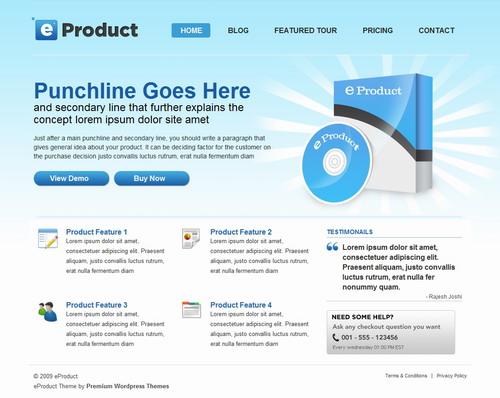 eProduct   Templatic Wordpress Theme