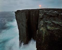Where the Atlantic meets the land - Esha Ness lighthouse, Northmavine, Shetland (iancowe) Tags: ocean cliff lighthouse storm scotland waves scottish atlantic stevenson beacon shetland ness esha gloaming clifftop eshaness northmavine wbnawgbsct