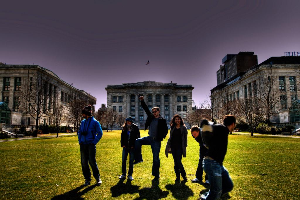 Harvard Medical School Lawn.