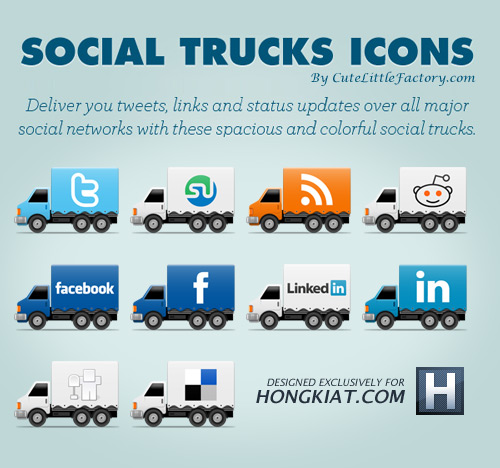 Freebie Release: Social Truck Icon Set