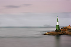 Twilight's last colors (AnnuskA  - AnnA Theodora) Tags: longexposure light sea brazil lighthouse house seascape beach brasil landscape twilight rocks florianpolis santacatarina powerful