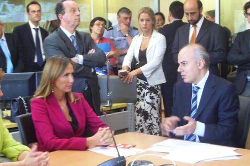 Edoardo Croci con il ministro dell'ambiente Stefania Prestigiacomo, 11 giugno 2008