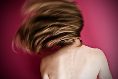 Headrush (Emily Jane Morgan) Tags: pink selfportrait motion blur me girl hair back long bare