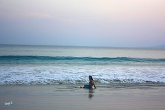 Kanu , enjoying the water (keedap) Tags: india beach asia honeymoon deepak deep virgin kanu havelock andaman sharma keerti besr radhanagar