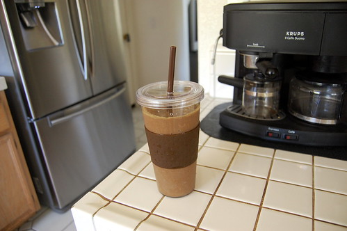 amazing grass fueled raw cacao smoothie!