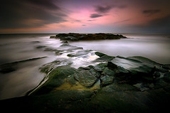 Back in the Seat (dan barron photography - landscape work) Tags: coastsunset rocksseawavesswellcolourslongexposurewideangle