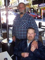 Füzzy & Greg, May 2011 (Füzzy Mijmark) Tags: pipe smoking smoker pipesmoker moustachemay