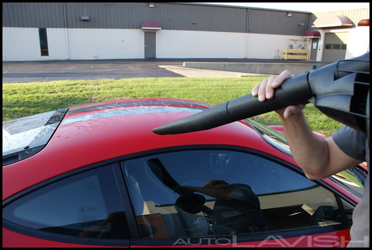 blow drying a ferrari 430 scud