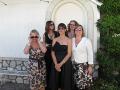 Wife and friends at a wedding (vintage ladies) Tags: wedding ladies sunglasses pretty smiles mature dresses wife milfs