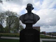 Mahatma Gandhi, Quebec City (Serene Moments) Tags: monument quebeccity gandhiji mahatmagandhi