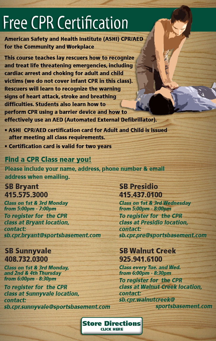Free cpr classes yoga classes fitness classes biking events they offer the free cpr classes xflitez Choice Image