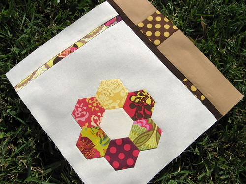 modern flower hexagon block
