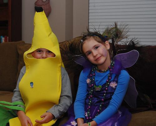 Banana and a peacock