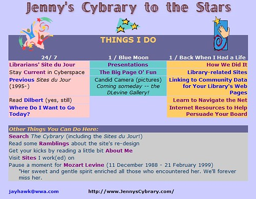 Jenny's Cybrary to the Stars