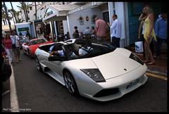 Lamborghini Murcielago LP640 Roadster (Raul Salinas) Tags: espaa white cars car canon puerto photography eos spain spot salinas spots exotic raul r