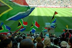 vuvu's and flags (Rushay) Tags: africa southafrica nikon fifa soccer flags 2010 safa nelsonmandelabay d80 vuvuzela