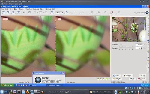 digiKam - new wavelets noise reduction tool under