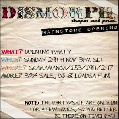 DISMORPH. Party Flyer