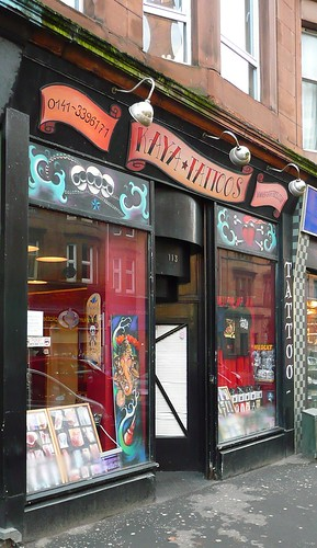 kaya tattoos, dumbarton rd glasgow