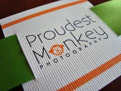 proudest monkey - ribbon tags