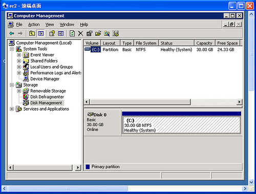 EC2 - EBS Windows 01 @ 20091210