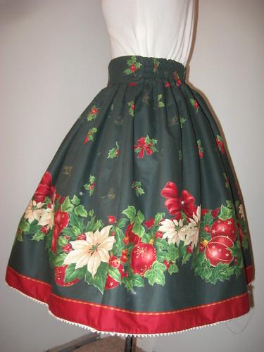 Christmas skirt 2009 006