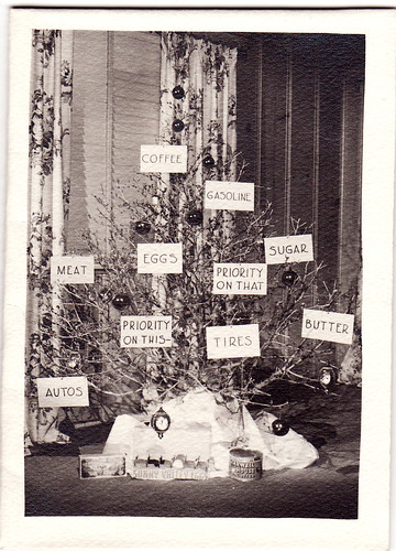 hand made ration christmas card