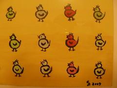 Erika's Spatzen (erikaheinzurlaub) Tags: pictures blue red sea black color colour green rot bird colors birds yellow yahoo nikon meer colours picture gelb coolpix grün blau bild vögel möwe taube 2009 schwarz möwen bilder spatzen acryl vogel farben spatz zeichnung nikoncoolpix leinwand gemälde zeichnen ötschen ötsch