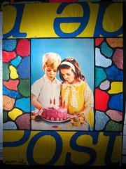 Yellow La Poste (Gabri Le Cabri) Tags: birthday blue boy red colors girl yellow cake collage candle post archive fotolog card series glc laposte gabrilecabri