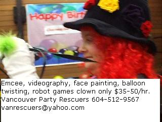 $50 per hr EMCEE MC SERVICES VANCOUVER BC SURREY VIDEOGRAPHY VIDEOGRAPHER VANCOUVER BC SURREY