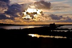 Nubes de tormenta al atardecer (ibzsierra) Tags: sunset cloud water canon atardecer agua salinas ibiza nubes eivissa ocaso baleares digitalcameraclub 400d travelsofhomerodyssey