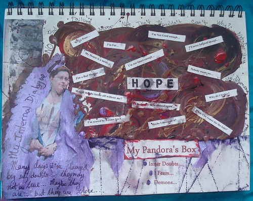 Week 2 Art Journal by keepsakescrafts.