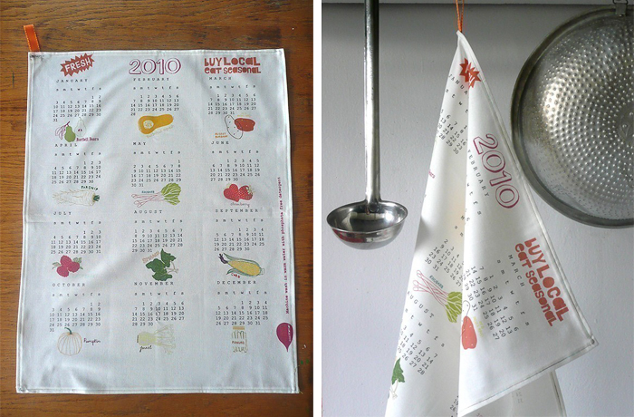 Calendar Tea Towel by Claudia Pearson