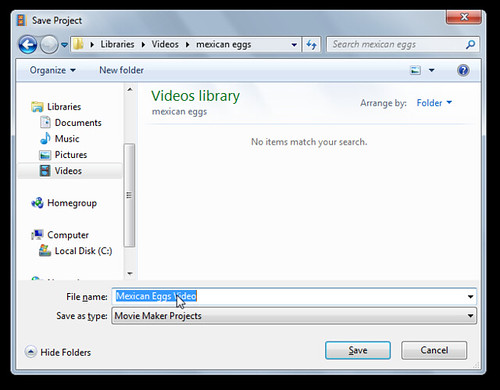 Save Windows Live Moviemaker Project