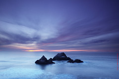 silence resonating at dusk (louie imaging) Tags: ocean sf sanfrancisco california ca light cliff house rock america evening bay san francisco rocks view pacific dusk seal area peregrino27newvision