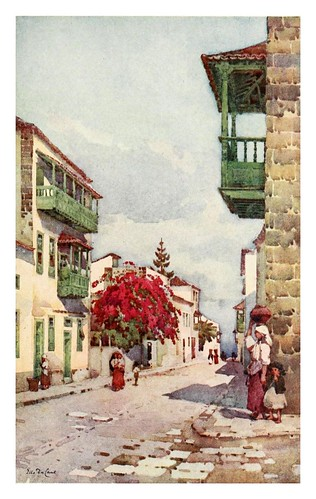 024-Una calle en la Orotava-Tenerife-The Canary Islands (1911) -Ella Du Cane
