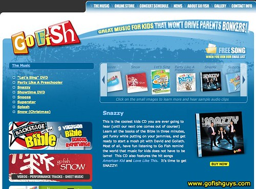 GoFish Guys - Snazzy | Kids Music, Sunday School Songs, Children's Bible Songs, Christian Children's CD