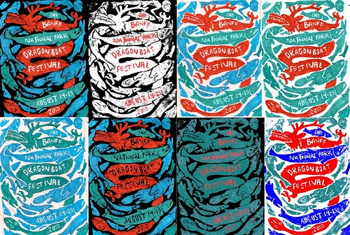 Dragonboat Poster Color roughs