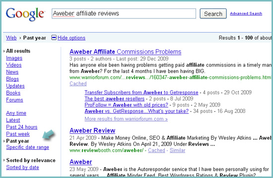 Search affiliate program rviews: Google