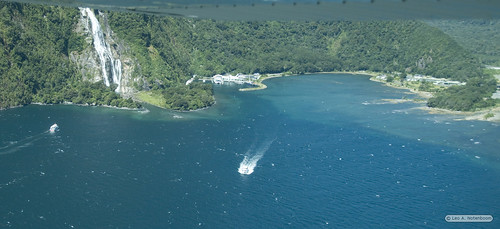 Milford sound Harbor from the Air