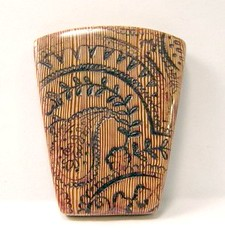 Faux Carved Bone Series - Paisley - Front View