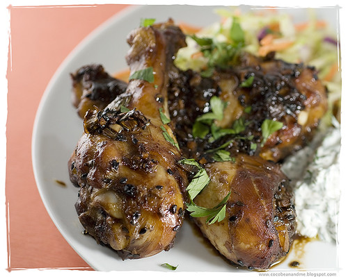Baked Asian Spiced Chicken Drumsticks