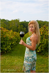 DC photography (shutterbloom) Tags: blue summer woman sun white mountains hot sexy girl truck hair fun glasses picnic dress wine farm www winery blond grapes heat hay cowboyhat playmate vinery picnicbasket vinerow