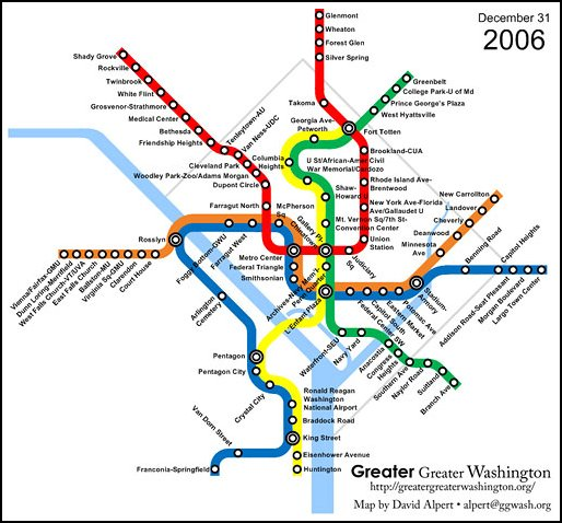 DC's Metro at the end of 2006 (by: David Alpert)