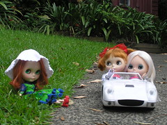 The girls go for a spin
