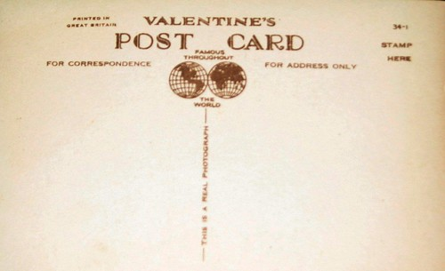 Valentine's Post Card - GB