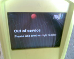 18/02/2010 Myki machine still out of order