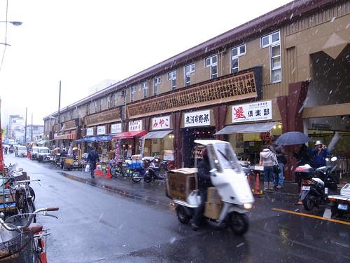 築地外市場。機貨車